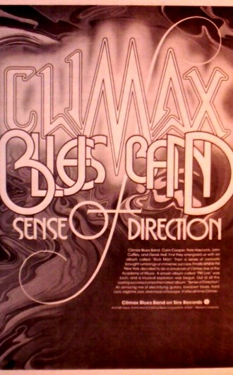 "CLIMAX BLUES BAND ""SENSE OF DIRECTION"" ALBUM AD 1974"