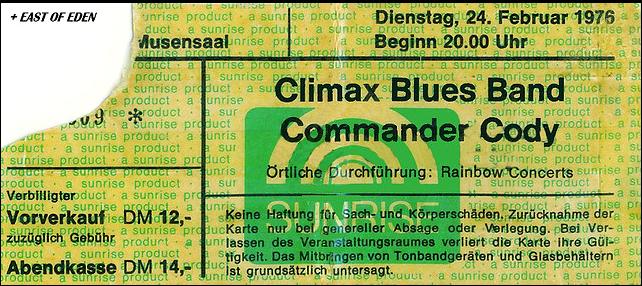 Climax Blues Band - Mannheim Rosengarten - 1976