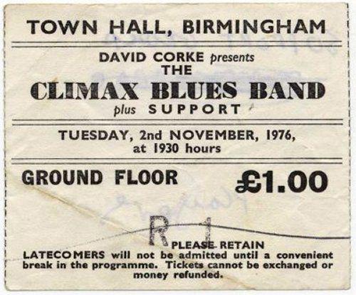 Town Hall, Birmingham 2-11-76