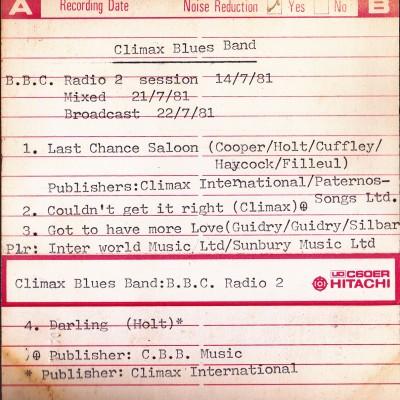 BBC radio 2-1981